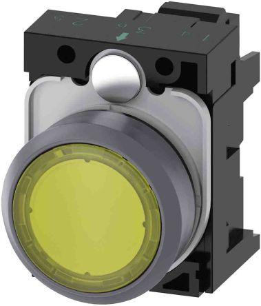 SIRIUS ACT, Front plate mounting Yellow LED Indicator, IP66, IP67, IP69(IP69K), Round