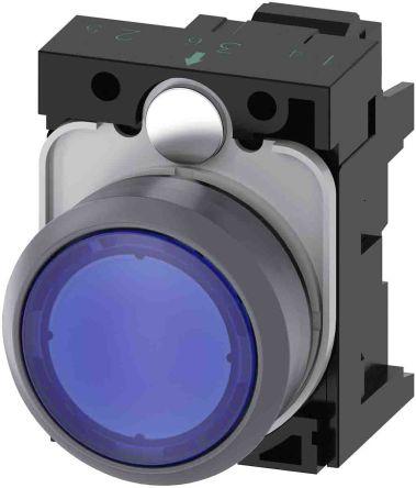 SIRIUS ACT, Front plate mounting Blue LED Indicator, IP66, IP67, IP69(IP69K), Round