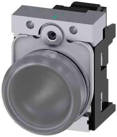 SIRIUS ACT, front panel mounting White LED Indicator, 22.3mm Cutout, IP66, IP67, IP69(IP69K), Round