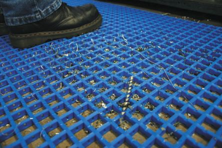 COBA Blue Anti-Slip PVC Mat with Holes Surface