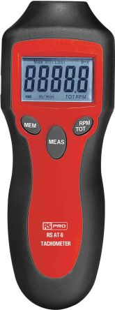 RS PRO Tachometer, Best Accuracy ±0.05 % Non Contact LCD