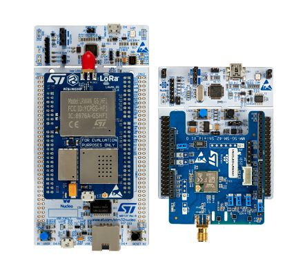 STMicroelectronics - P-NUCLEO-LRWAN2STM32F7 LoRa Expansion Board STM32 Nucleo Starter Pack for LoRa® HF Band Sensor and