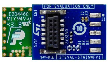 STMicroelectronics STEVAL-STWINWFV1, Wi-Fi Expansion Expansion Board for ISM43362 for SensorTile Wireless Industrial