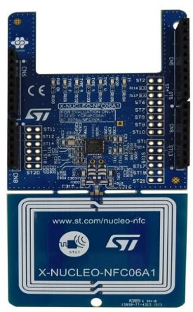 STMicroelectronics - X-NUCLEO-NFC06A1ST25R3916 Expansion Board NFC Card Reader Expansion Board for STM32 Nucleo, STM8