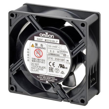 Omron, 100 → 240 V ac, AC Axial Fan, 120 x 120 x 38mm, 3m³/min, 4.4W