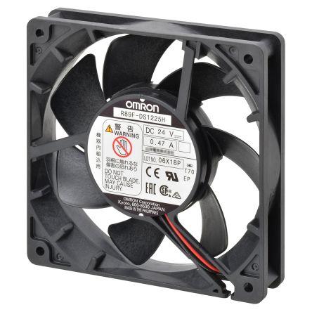 Omron, 24 V dc, DC Axial Fan, 92 x 92 x 25mm, 1.66m³/min, 3.6W