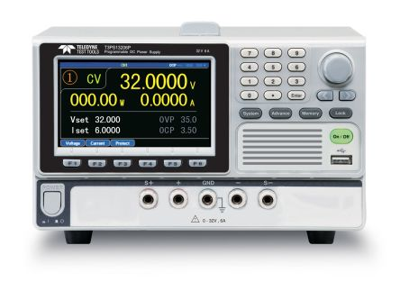 Teledyne LeCroy Programmable Linear, Bench Power Supply, 0 → 100W, 1 Output , 0 → 32V 0 → 6A