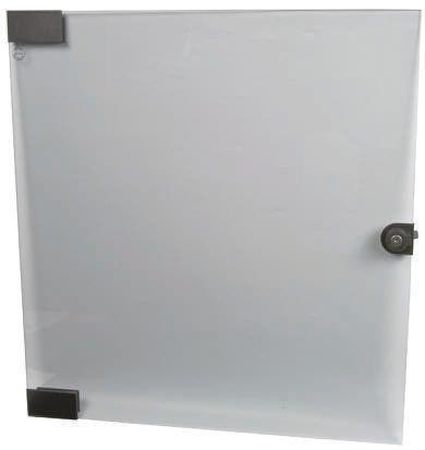 20117748 Schroff Smoked Glass Door For Cabinet34u 195 8045 Rs
