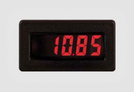 Red Lion CUB4CL Series Digital Panel Ammeter DC, LCD Display 3-1/2-Digits