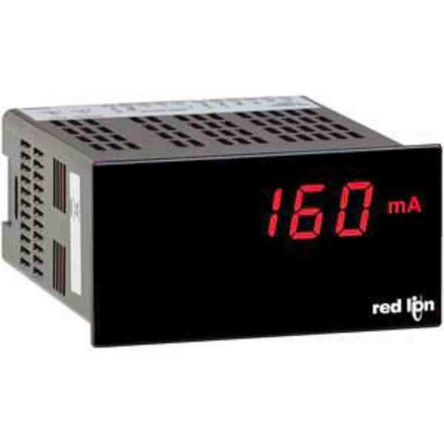 Red Lion PAX Lite Series Digital Panel Ammeter DC, LED Display 3-1/2-Digits