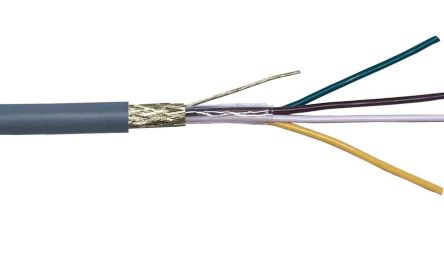 RS PRO 4 Core Braid Industrial Cable, 0.