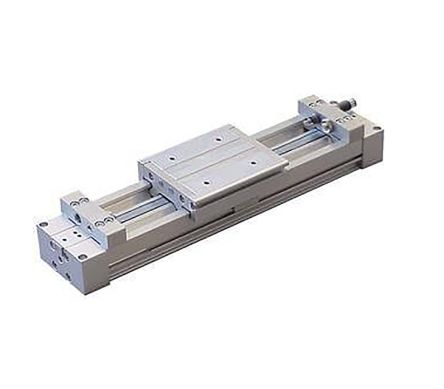 SMC Double Acting Rodless Pneumatic Cylinder 400mm Stroke, 20mm Bore