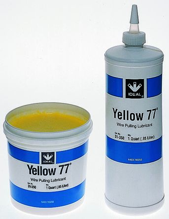 Yellow 77 wire pull lubricant,0.95l tub | 31-350 | RS Components