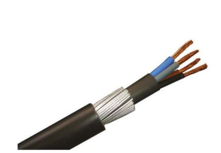 RS PRO 4 Core Industrial Cable, 6 100m Reel
