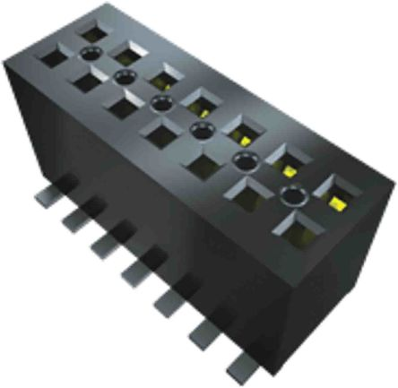 Samtec, FLE, FLE 1.27mm Pitch 20 Way 2 Row Vertical PCB Socket, Surface Mount, Solder Termination