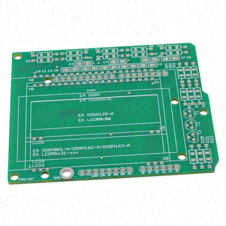 Blank Arduino shield,EA DOGM,DOGl128-6