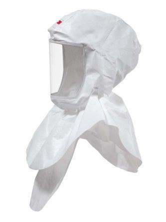 3M S-607 White No Polypropylene Protective Hood, Resistant to Dust, Liquid Splash