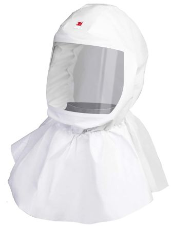 3M S-605 White No Polypropylene Protective Hood, Resistant to Dust, Liquid Splash
