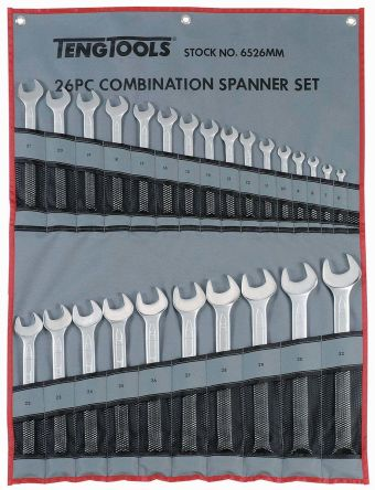 Teng Tools 26 Piece Chrome Vanadium Spanner Set