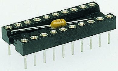 Assmann 2.54mm Pitch Vertical 24 Way, Through Hole Turned pin Closed Frame IC Dip Socket