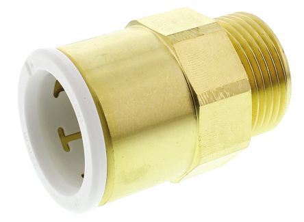 John Guest Straight Brass Push Fit Fitting 22mm 3/4 in BSP Male