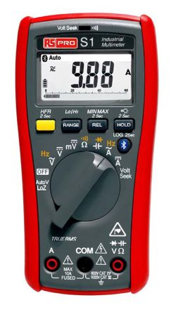 RS PRO Digital Multimeter, 10A ac 1000V ac 10A dc 1000V dc 40MΩ Bluetooth Connectivity