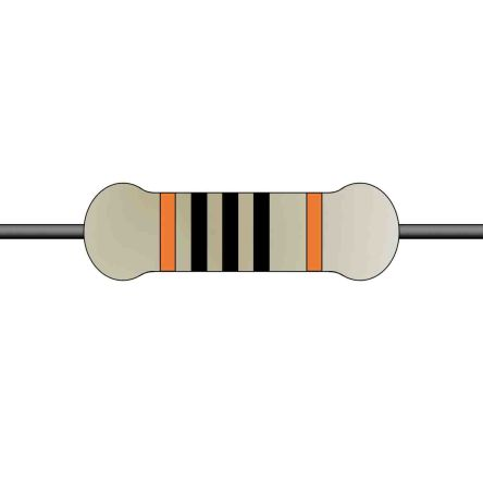 Yageo Metal Film Fixed Resistor 0.25W ±1% MFR-25FTE52-100R