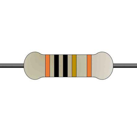 Yageo Metal Film Fixed Resistor 0.25W ±1% MFR-25FTE52-10R