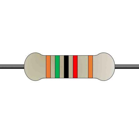 Yageo Metal Film Fixed Resistor 0.25W ±1% MFR-25FTE52-15K