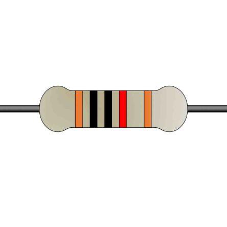Yageo Metal Film Fixed Resistor 0.25W ±1% MFR-25FTE52-10K