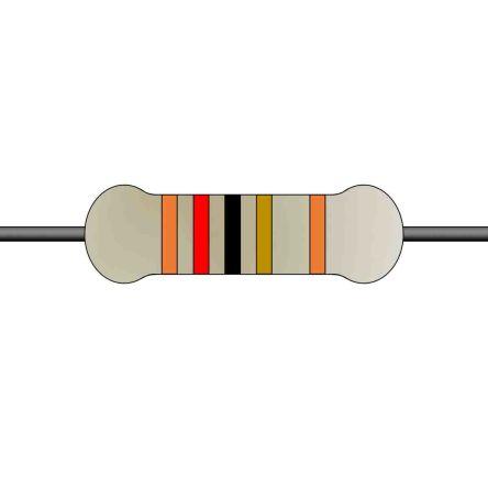 Yageo Metal Film Fixed Resistor 0.25W ±1% MFR-25FTE52-12R
