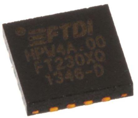 FTDI Chip USB to Serial UART 16-Pin QFN, FT230XQ-T