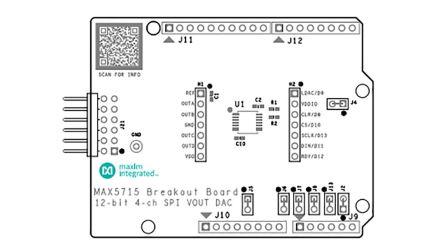Maxim Integrated MAX5715BOB#, MAX5715BOB Breakout Board for MAX5715