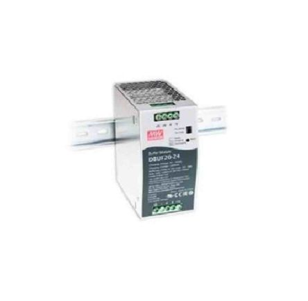 Mean Well DBUF20-24, DIN Rail Power Supply - 24V Input Voltage, 22V Output Voltage, 20A Output Current