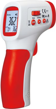 RS PRO RS-8806S Infrared Thermometer, Max Temperature +60°C, ±0.3°C, ±0.3°C, Centigrade, Fahrenheit