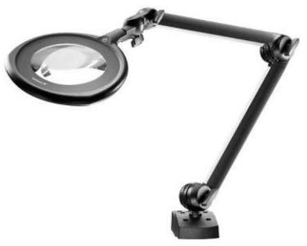 Waldmann RLLQ 48/2 AR LED Magnifying Lamp with Screw Down Flange, 3.5dioptre, 160mm Lens
