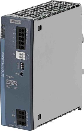 Siemens SITOP, DIN Rail Power Supply - 85to264V Input Voltage, 48V Output Voltage, 5A Output Current