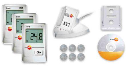 Testo Testo 174T Temperature Data Logger, USB, Battery Powered, Digital Display, IP65