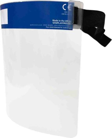 Clear No Face Shield with Brow Guard , Resistant To High Speed Particles