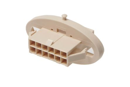 207017 Female Crimp Connector Housing, 4.2mm Pitch, 12 Way, 2 Row
