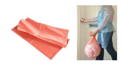 Cromwell Polythene Wave White Polythene Disposable Apron 42in