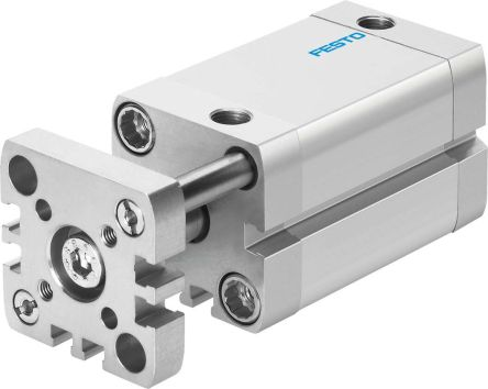 Festo Pneumatic Compact Cylinder 12mm Bore, 10mm Stroke, ADNGF Series, Double Acting
