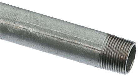 RS PRO Galvanised Threaded Steel & Stainless Steel Pipe, 3 23m Long, 26 6mm  Nominal Outer Diameter