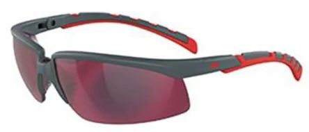 3M Solus 2000 Safety Glasses, Grey/Red T