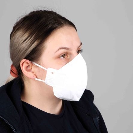 Austins White Polypropylene Face Mask for Sanitary, 150 x 180 mm