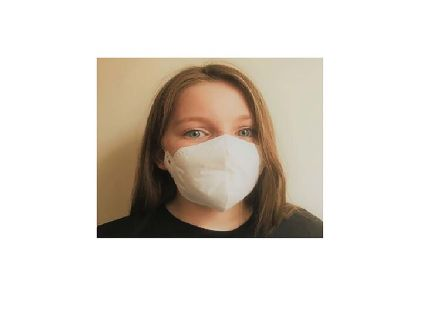 Austins White Polypropylene Face Mask for Sanitary, 135 x 160 mm