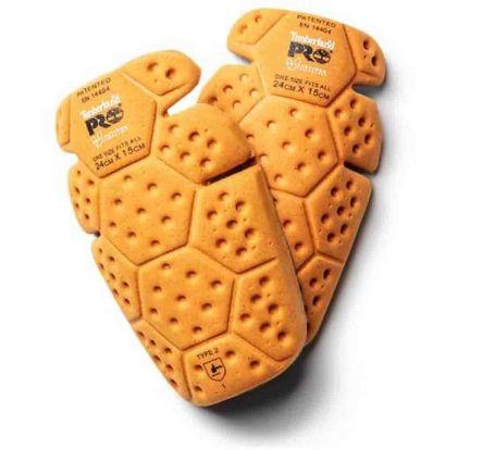 Timberland Orange Polyurethane (PU) Trouser Knee Pocket Knee Pad