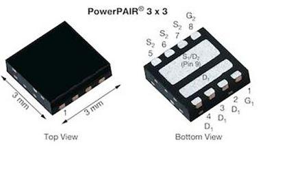 Dual N-Channel MOSFET, 33.4 A, 30 V, 9-Pin PowerPAIR 3 x 3 Vishay SiZ342ADT-T1-GE3
