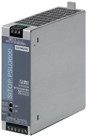 Siemens SITOP PSU3600, DIN Rail Power Supply - 120 → 230V Input Voltage, 15V Output Voltage, 3.5A Output Current