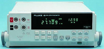 1640609 fluke 45 digital multimeter bench 10a ac 750v ac 1000v dc rh uk rs online com Fluke 177 User Manual fluke 45 multimeter user manual